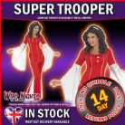 FANCY DRESS COSTUME # LADIES 1970s POP MUSIC ABBA SUPER TROOPER RED MED 12-14
